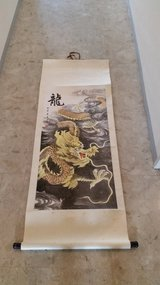 Dragon & Tiger Scroll in Okinawa, Japan