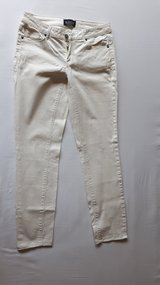 white Stretch Jeans with subtle Snake skin Optic in Ramstein, Germany