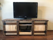 Gorgeous rustic solid wood entertainment center in Manhattan, Kansas