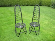 2 stylish black rattan chairs in Ramstein, Germany