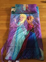 Frozen sleeping bag in Oswego, Illinois