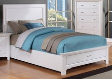 NEW! QUALITY WHITE PLATFORM TWIN BED WITH STORAGE in Vista, California
