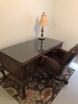 Hooker Executive Desk, filing cabinet & Chair in Oswego, Illinois