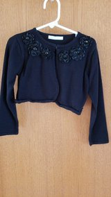 girls black sweater with flowers sz. 6X in Shorewood, Illinois