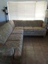 L shaped couch w/ pullout bed in Yucca Valley, California