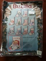 Cross Stitch Tiny Christmas stockings - 10 Styles in package in New Lenox, Illinois
