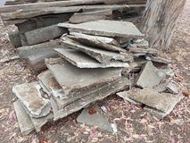 Broken concrete slabs in Vista, California