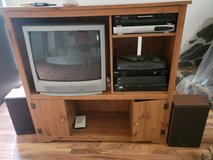 entertainment center with tv in Perry, Georgia