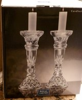 Beautiful Etched Glass Hvy Duty Candle Stick Holders, Royal Ltd. Very Elegant in Katy, Texas