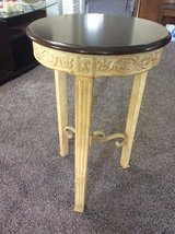 Engraved Side Table in Vacaville, California