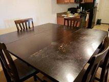 DINING ROOM TABLE W/ CHAIRS in Fort Jackson, South Carolina