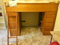 Loft Bed Twin Size with desk and storage space, great condition! in Great Lakes, Illinois