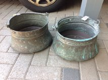 Copper Cauldron x 2 - with Handles in Ramstein, Germany