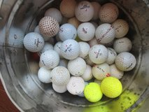 Used golf balls, different brands in Chicago, Illinois