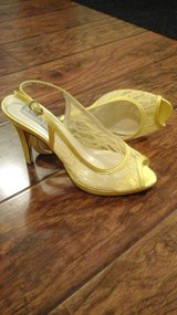 Brand NEW Yellow Lace Bridal shoes! in Naperville, Illinois