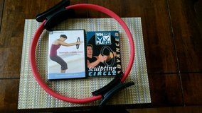 Pink Exercise Ring with 2 instructional dvd's in Conroe, Texas