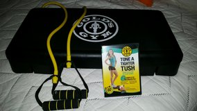 golds gym stepper, band and dvd in The Woodlands, Texas