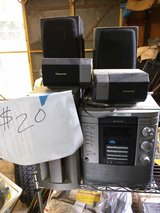 Aiwa Stereo With 4 Speakers and Subwoofer in Camp Lejeune, North Carolina