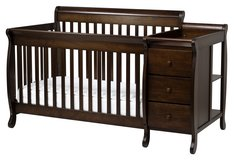 DaVinci Kalani 4 in 1 Convertible Crib and Changer Combo - Cherry in Converse, Texas