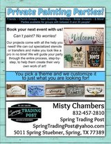 Paint classes - Open & Private in The Woodlands, Texas