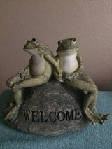 Frogs on a  Welcome Stone Accent in Vacaville, California