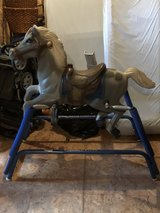 Children's rocking horse in Batavia, Illinois