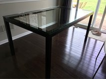 Crate and Barrel Glass/Steel table in Naperville, Illinois