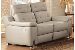 """NEW! UPSCALE / LUXURIOUS """"GENUINE LEATHER"""" SOFA POWER RECLINER in Camp Pendleton, California"""