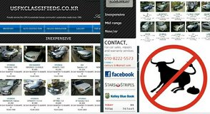Warrantied USED CARS from $1000/KRW 1m includes Korean/USFK inspection in Osan AB, South Korea