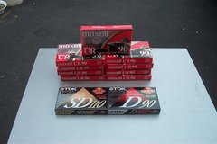 11 NEW STILL SEALED CASSETTE TAPES in Oswego, Illinois