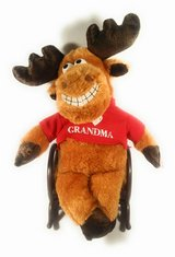 Rocking chair moose wearing an I ? grandma shirt in Bellaire, Texas