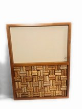 Picture frame crafted with wine corks from legendary bottles in Katy, Texas