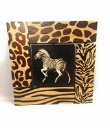 Zebra smoothly printed unto wood in Katy, Texas