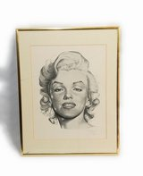Signed Marilyn Monroe sketch in Katy, Texas