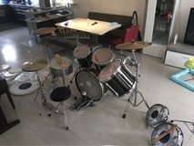 pearl drum set with remo reto toms in Wiesbaden, GE