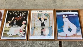 Vintage Framed Set Vogue Covers in Conroe, Texas