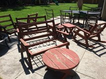 Vintage Redwood Patio Furniture in New Lenox, Illinois