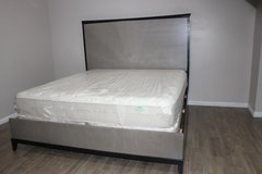 Modern King Size Bed Including Mattress PRICE REDUCED!! in Spring, Texas