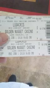 Ludacris at golden Nugget tonight 2 tickets in Lake Charles, Louisiana