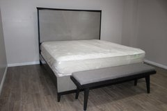 Modern King Size Bed Including Mattress WITH bench in Spring, Texas