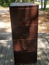 Wagemaker Antique Wood Filing Cabinet in Wilmington, North Carolina
