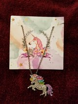 RHINESTONE UNICORN/ RAINBOW PON NECLACE FOR A LITTLE PRINCESS in Fort Campbell, Kentucky