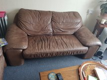 Leather sofa in Lakenheath, UK