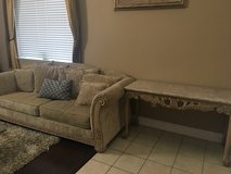 Sofa & Marble Table (set) in Vacaville, California