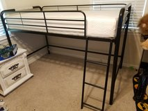 Twin Jr. Loft Bed Frame and Mattress in Cleveland, Texas
