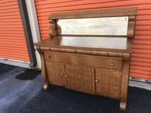 Antique Tiger Golden Oak Sideboard/Buffet w/Beveled Mirror Top in Cherry Point, North Carolina