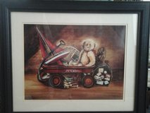 wall art, decor, nostalgic teddy bear in wagon signed lithograph limited , artist Gay Talbott Bo... in Phoenix, Arizona