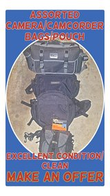 Assorted Camera/Camcorder Bags/Waist Pouch in Fort Lewis, Washington