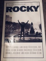 Rocky movie poster reprinted in 2008 in Fort Leonard Wood, Missouri