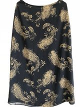 Long Black and Gold Liz Claiborne Skirt Size 8 in Okinawa, Japan